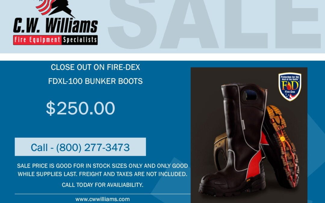 Fire-Dex FDXL-100 Boot Sale